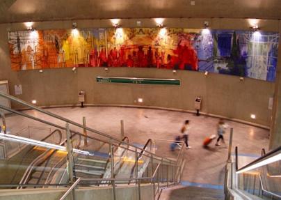 International transit art example