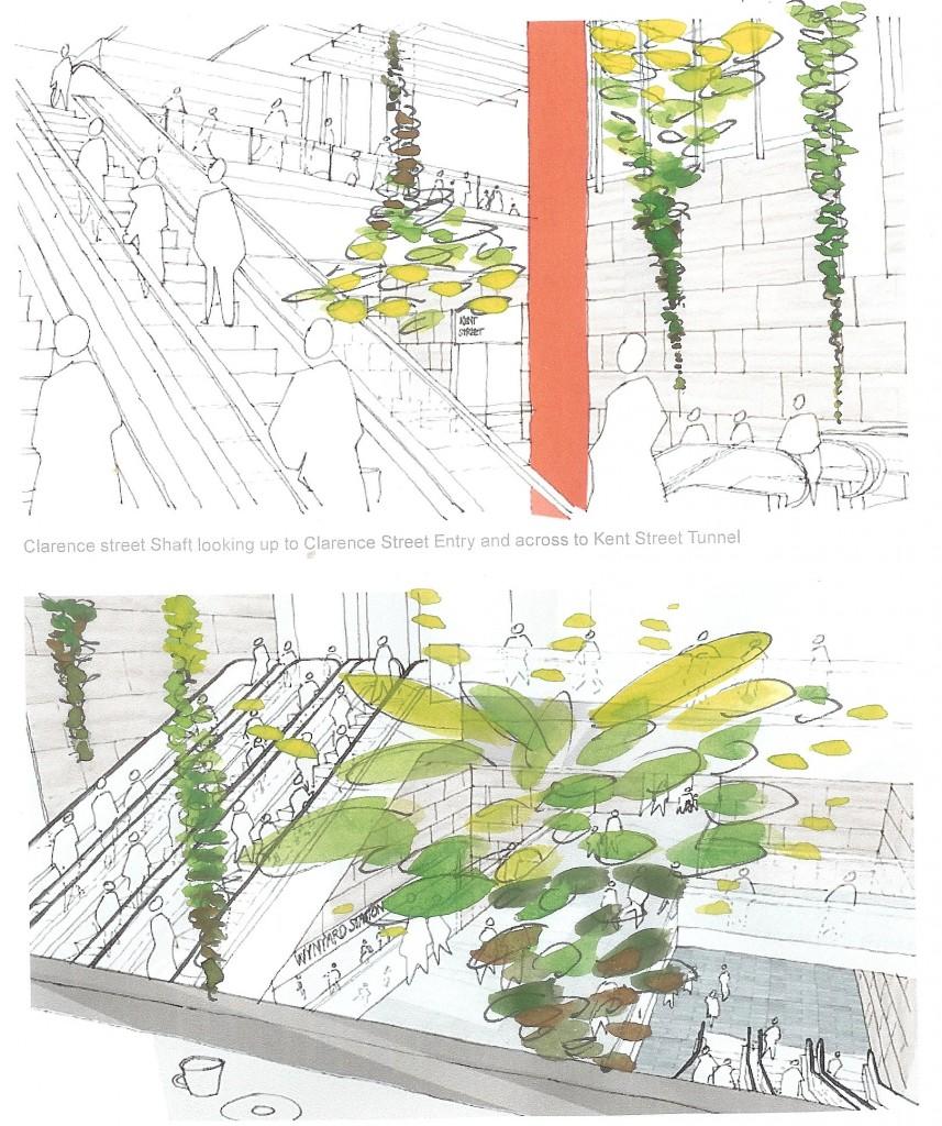 Jade Oakley Wynyard Station artwork concept