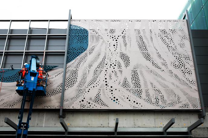 Installation of artwork
