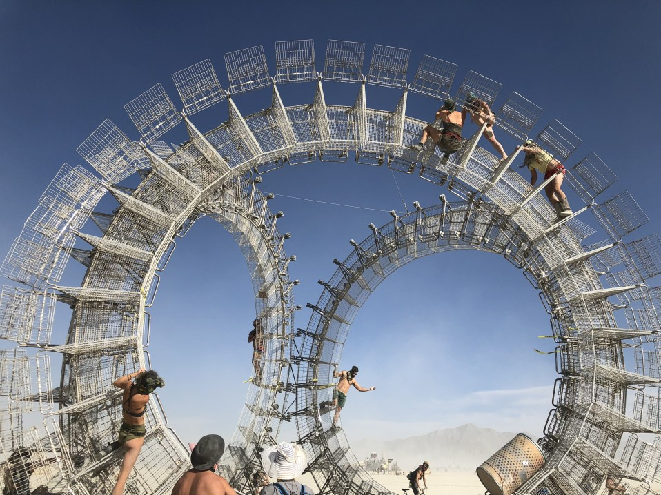 Supporting art projects at Burning Man